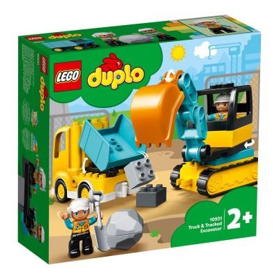 10931 LEGO® DUPLO Town - Камион и екскаватор с вериги