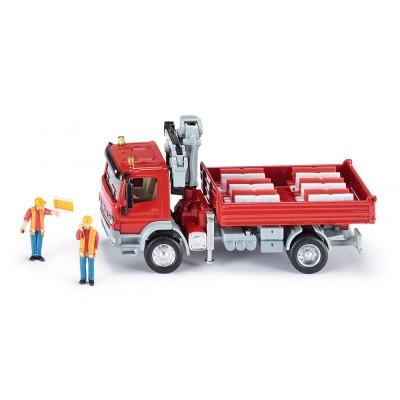 3534 SIKU Камион с кран Mercedes Atego