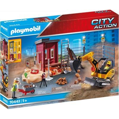 70443 Playmobil - Мини екскаватор със строителна площадка