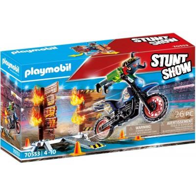 70553 Playmobil - Каскадьорско шоу, Мотоциклет с огнена стена