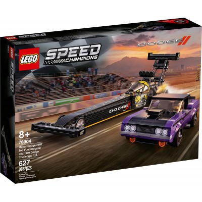 76904 LEGO® Speed Champions - Mopar Dodge //STR Top Fuel Dragster и 1970 Dodge Challenger T/A