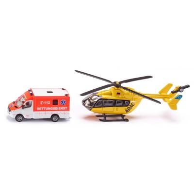 1850 SIKU Спасителен комплект линейка и хеликоптер