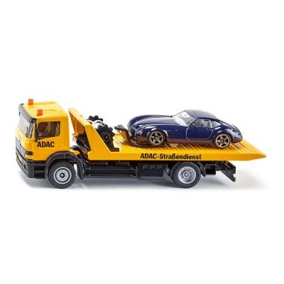 2712 SIKU Авариен камион Мерцедес с платформа и автомобил