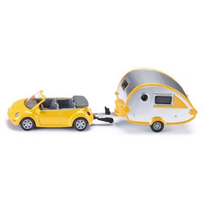 1629 SIKU VW Beetle кабрио с каравана